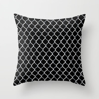 Chain Link on Black Throw Pillow by Project M | Society6