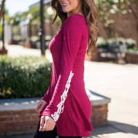 Rare Reviews Top, Burgundy