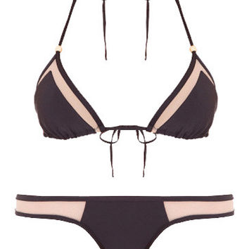 Mesh Bikini Separates (Black Magic)