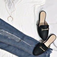 Lux Days Black Loafers