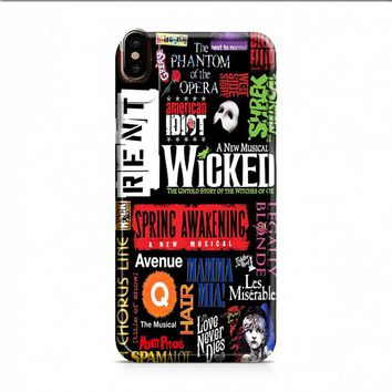 Broadway Musical Collage Poster iPhone X case