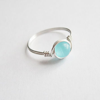 Blue Chatoyance Ring