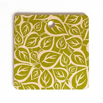 Heather Dutton Falling Foliage Cutting Board Square