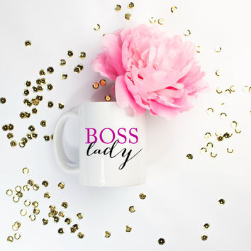 Boss Lady Coffee Cup, Mug, Funny, Humor, Bridesmaid Gift, Birthday, Bachelorette, Wedding, Christmas
