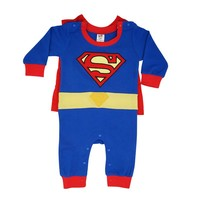 Summer Newborn Baby Costume Baby Rompers Superhero Superman Cotton Baby Boy Girl Rompers Newborn Baby Clothes