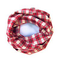 Kids Plaid Scarf CuteToddler Scarf Childs Winter Scarf Red Cream Green Boy Scarf Girl Scarf Cute Holiday Scarf Holiday Gift Ready To Ship