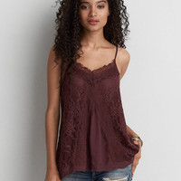 AEO Lace Panel Cami , Orchid Bouquet