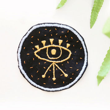 Third Eye PATCH - embroidered, hand made, ooak, indie, grunge