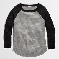 Factory airspun baseball sweater in colorblock - crewnecks & boatnecks - FactoryWomen's Sweaters - J.Crew Factory