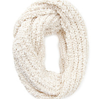 Marled Mixed Knit Scarf