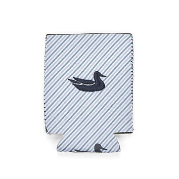 Signature Coozie in Blue Stripe with Navy by Southern Marsh