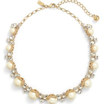 kate spade new york 'bouquet' faux pearl collar necklace   Nordstrom