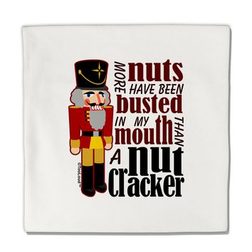 """More Nuts Busted - My Mouth Micro Fleece 14""""x14"""" Pillow Sham by TooLoud"""