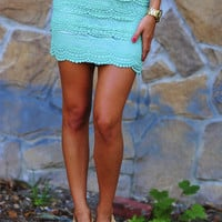 It's So Lacy Skirt: Mint Green | Hope's