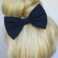 Navy Blue Hair Bow clip hair accessories for women bow tie Bow Dark Blue bow for hair bow fashion accessories for girls navy blue hair clip