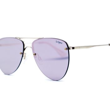 Le Specs The Prince Frameless Mirrored Aviator Sunglasses, 57mm