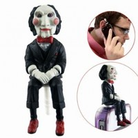 Saw Jigsaw Puppet Earphone Jack Anti Dust Proof Plug Ear Cap for iPhone 5 3.5mm