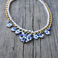 Indigo Floral Necklace
