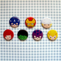 Avengers button badge set (also available in magnets)