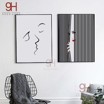 Modern Abstract Canvas Art Print Poster, Fashion Wall Pictures for Home Decoration, Wall Art Decor FA436