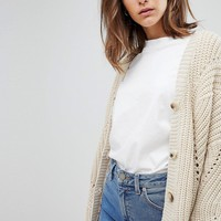 ASOS Cardigan in Chunky Oversized Fit at asos.com