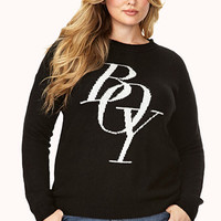 Boy Graphic Wool-Blend Sweater