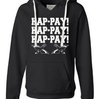 Medium Turqberry Womens Hap-pay Hap-pay Hap-pay Happy Happy Happy Duck Dynasty Duck Hunting Deluxe Soft Fashion Hooded Sweatshirt Hoodie
