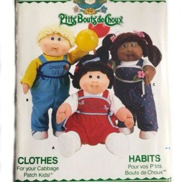 Vintage Butterick 3660 Cabbage Patch Kids Doll Sewing Pattern French Clothes