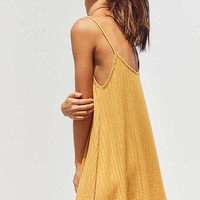 Silence + Noise Wide-Ribbed Knit Slip Dress | Urban Outfitters
