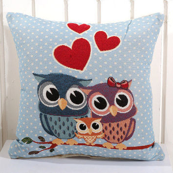 Cartoon Handmade Owl Home Decor Pillow Decorative Throw Pillows Cute Drawing 18