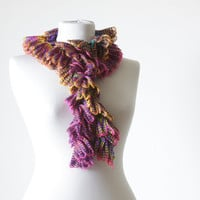 Women Crochet Scarf Accessories, Handmade Neck accessory, multi color