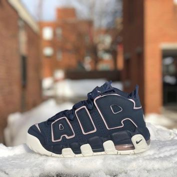 DCCK Nike Air More Uptempo Thunder Blue Particle Rose Grade School 415082-402