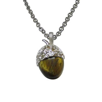 Shiny Acorn Pendant Necklace