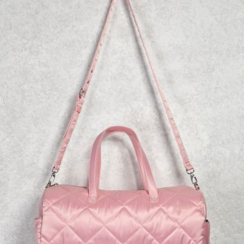 Quilted Tube Duffle Bag