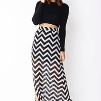 Chevron Chic Maxi Skirt