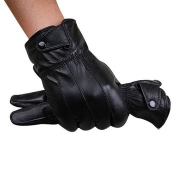 DCCKU7Q gloves men Winter Super Driving  Gloves With Cashmere Warm motorcycles cool gloves Guantes  de invierno para hombres
