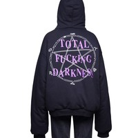 Indie Designs Vetements Inspired Total Fucking Darkness Hoodie
