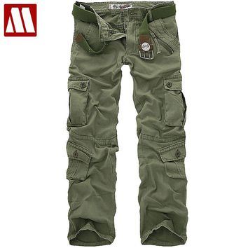 New style fashion Male Breeches men's cotton coveralls man workwear leisure trousers Men's military pants Cargo pant SIZE 28-42