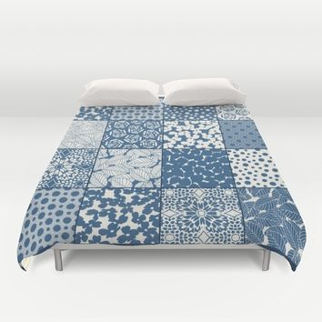 Tile Patchwork Duvet Cover by Eileen Paulino