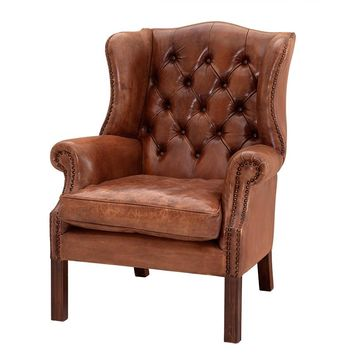 Brown Leather Armchair | Eichholtz Bradley
