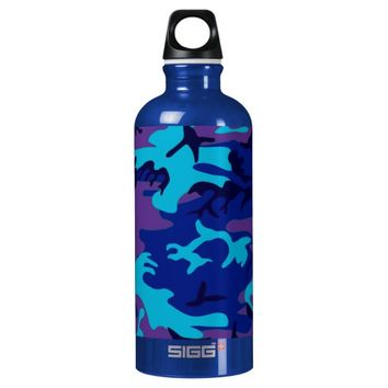 Dark Blue and Purple Camouflage Watter Bottle SIGG Traveler 0.6L Water Bottle