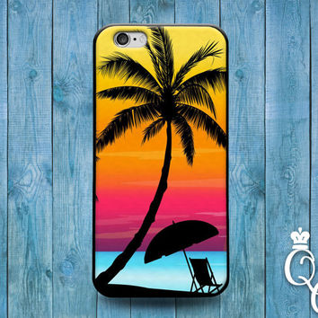 iPhone 4 4s 5 5s 5c 6 6s plus iPod Touch 4th 5th 6th Generation Cool Pink Orange Purple Sunset Beach Relax Life Phone Cover Cute Custom Case