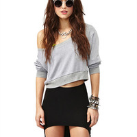 Black Knitted Mini Skirt