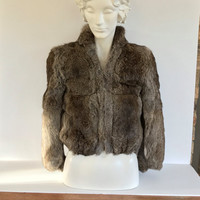 Vintage Fur Coat Woman's Rabbit Jacket