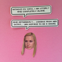 Angela Martin Quotes Sticker Set