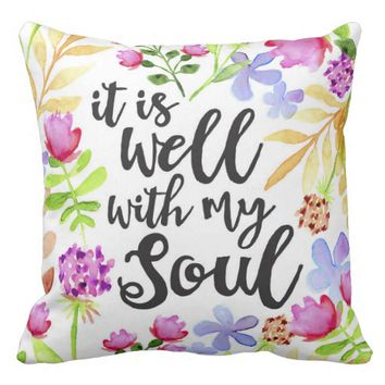 It is Well/To God Be The Glory Throw Pillow