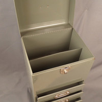 vintage 6 drawer art supply storage cabinet