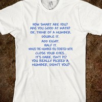 How Smart Are You Math Quiz Funny Joke Parody Sarcasm Shirt
