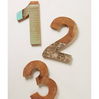 Anthropologie Reclaimed Wood Block Numbers from Anthropologie | BHG.com Shop