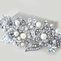 Wedding Jewelry Bridal Comb Pearl Floral Comb Rhinestone Hair Comb Bridesmaid Gift Accessories